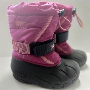SOREL Flurry TP Girls Deep Blush Winter Bo…